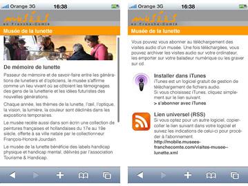 Conception d'un site internet pour smartphones pour des musées