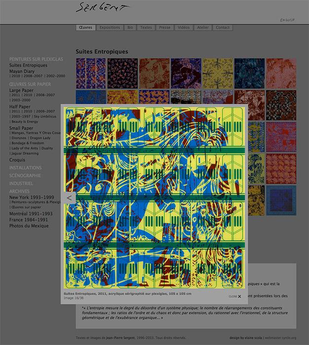 JP Sergent - Suites entropiques (zoom œuvre)