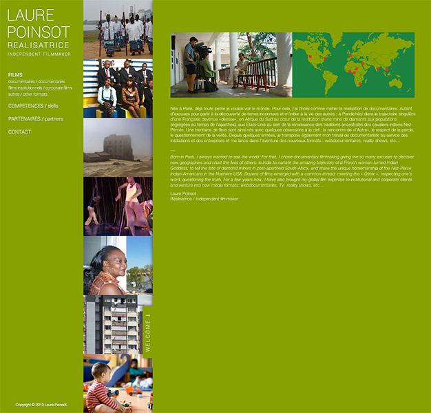 Création d'un site internet en responsive design pour une réalisatrice de documentaires - Présentation