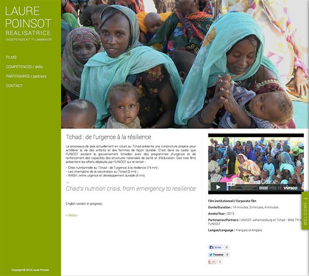 Création du site internet d'un réalisateur de documentaires - Reportage vidéo sur le Tchad