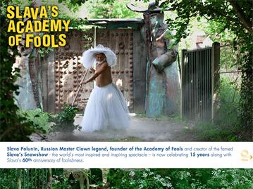 Création du site internet Academy of Fools pour le clown Slava Polunin