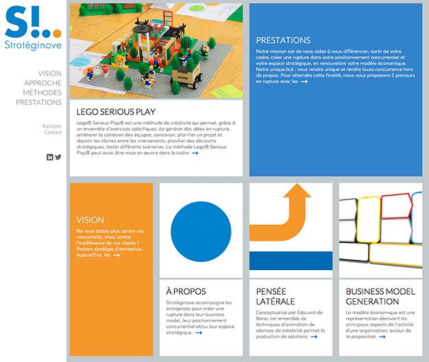 Création du site internet d'un consultant en créativité et innovation - Accueil