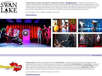 Création de site internet pour une agence artistique / un agent artistique