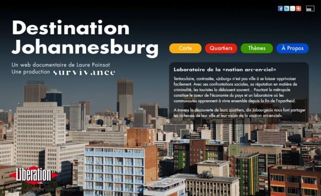 Webdocumentaire Destination Johannesburg - Accueil