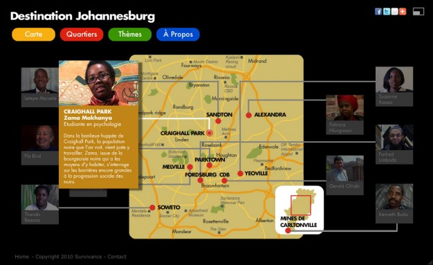 Webdocumentaire Destination Johannesburg - Carte de Joburg