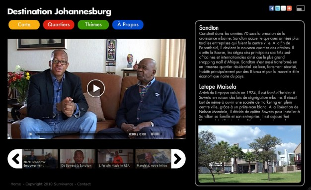 Webdocumentaire Destination Johannesburg - Quartier Sandton