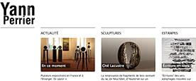 Aperçu Création du site internet du sculpteur Yann Perrier