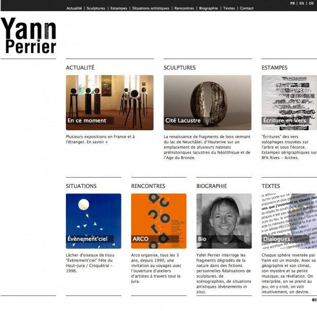 Création du site internet du sculpteur Yann Perrier