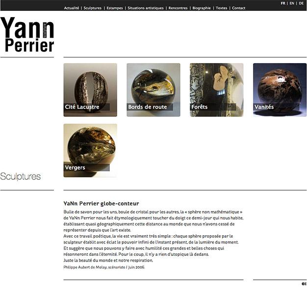 Création du site internet du sculpteur sur bois Yann Perrier - Les sculptures